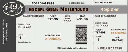 Ticket 4 Spieler Escape Game Notlandung Magdeburg
